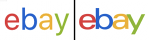 phishing ebay logo comparison